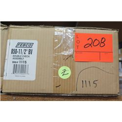 "Case FEBCO 850-11/2"" BV Double Check Assembly #1115"