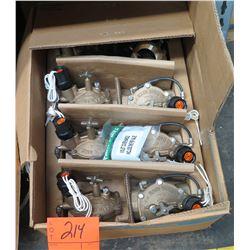 Qty 6 Rain Bird 200EFBCP Brass Irrigations Valves & Pkg Violet Cover Handle