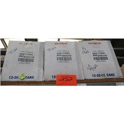 Qty 3 Boxes Flo Orange Marking Paint 222 Level 1 Aerosols