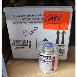 Case of 21 Cans Christy's Red Hot Blue Glue RH-RHBG-PT-24