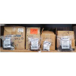Multiple Cases Netafim Bags DNL Valves, Threaded Adapters, Flushing Valves, End Line