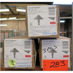 Qty 3 Boxes Kichler Bronzed Brass LED2700K, 12 Volt, 3.6W, 6VAA Landscape Light
