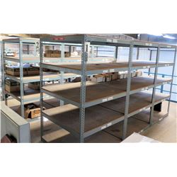 Qty 12 Metal-Framed Industrial Shelving Units (shelves located on 2nd level mezzanine)