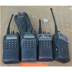 Qty 5 Vertex Standard Handheld 2 Way Radios