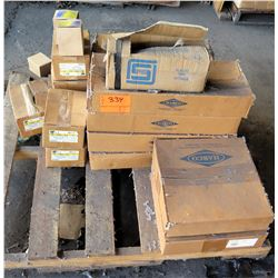 Pallet Misc. Boxes HARCO Fittings Valve to Pipe, Apollo Pressure Reducting Valves, etc