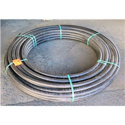 "Coil 1-1/4"" Diameter ASTM D3035 PSI 73F Black Hose"