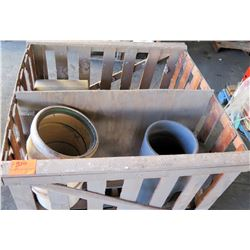 "Pallet Multiple Misc 12"" - 25"" Diameter Pipes, Connectors, Tees, etc"