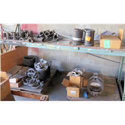 "Misc Pipe Sections, Clamps, Elbows, HARCO Ductile Iron Tees, 12"" Fittings, etc"