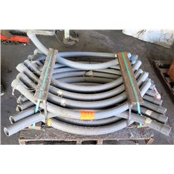 "Pallet Multiple Curved Gray PW Eagle 2"" SCH 40 Rigid PVC Conduit4"