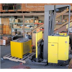 Hyster N40ER Standup Electric Forklift w/Battery Charger (Doesn't Run, Problem Unknown)