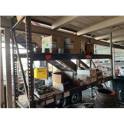 Pallet Racking System (Contents Not Included) - 4 Beams, 2 Uprights. Buyer Responsible for Disassemb