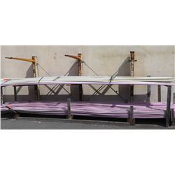 Metal 2-Tier 4-Section Pipe Rack  (Pipes Not Included) - Buyer Responsible for Disassembly