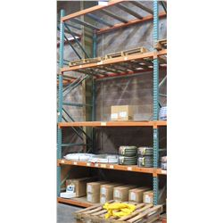 Pallet Racking System (Contents Not Included) - 36 Beams, 6 Uprights. Buyer Responsible for Disassem