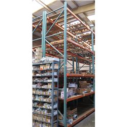 Pallet Racking System (Contents Not Included) - 56 Beams, 8 Uprights. Buyer Responsible for Disassem