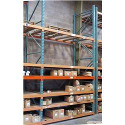 Pallet Racking System (Contents Not Included) - 54 Beams, 6 Uprights. Buyer Responsible for Disassem