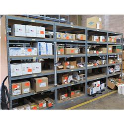 Qty 4 Metal-Framed Industrial Shelving Units, 5-Tier, Each 4ft X 4ft X 8ft H (Contents Not Included)