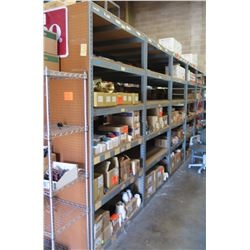Qty 5 Metal-Framed Industrial Shelving Units, 5-Tier, Each 4ft X 4ft X 8ft H (Contents Not Included)