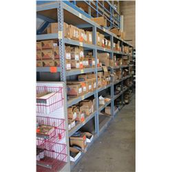 Qty 5 Metal-Framed Industrial Shelving Units, 5-Tier, Each 2ft X 4ft X 8ft H (Contents Not Included)