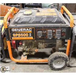GENERAC GP6500 GAS GENERATOR