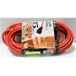 WOODS EXTENTION CORDS. 15 METERS.