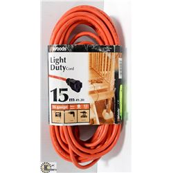 WOODS EXTENSION CORD, 15 METRES