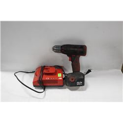 SNAP ON 14.4 VOLT HIGH OUTPUT CORDLESS DRILL WITH