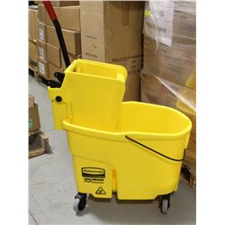 NEW RUBBERMAID MOP BUCKET WITH COMMERCIAL