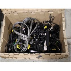BOX OF ASSORTED COMPUTER CHARGERS - INCL
