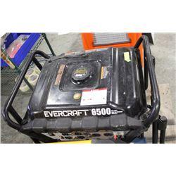 EVERCRAFT 6500W GENERATOR.