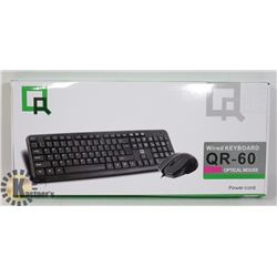 WIRED KEYBOARD W/ OPTICAL MOUSE