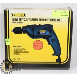 "HEAVY DUTY 3/8"" VARIABLE SPEED REVERSIBLE DRILL"