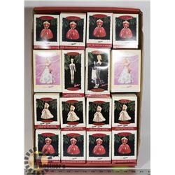 FLAT OF BARBIE CHRISTMAS ORNAMENTS