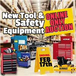 BID ON THE NEW TOOL & SAFETY EQUIPMENT AUCTION!