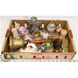 BOX OF ASSORTED TRINKETS