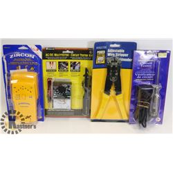 FLAT OF TOOLS INCLUDING CIRCUIT TESTER, AND MORE