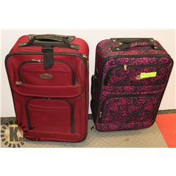 LOT OF 2 OVERNIGHT/CARRY ON BAGS