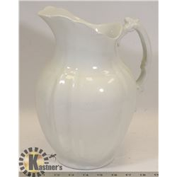 LARGE WHITE ROYAL IRONSTONE ALFRED MEAKN PITCHER