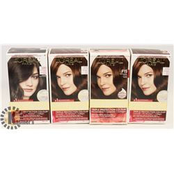 BAG OF 4 ASSORTED HAIR DYE