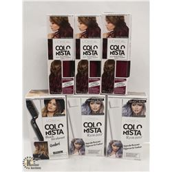 4 BOXES OF L'ORÉAL COLORIST SEMI-PERMANENT HAIR COLOUR & 2 BOXES OF L'ORÉAL COLORIST HAIR COLOR  REM