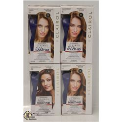 4 BOXES OF CLAIROL ROOT TOUCH-UP ASSORTED SHADES