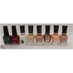 BAG OF ASSORTED COLOR SALLY HANSEN & CND VINYLUX NAIL POLISH