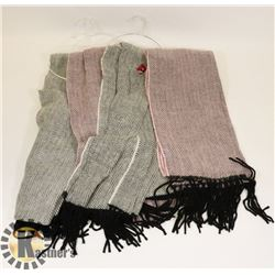LOT OF 4 SOFT SCARFS