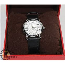 NEW REPLICA CARTIER WATCH WATER RESISTANT STAINLESS STEEL BACK.