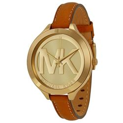 NEW MICHAEL KORS SLIM RUNWAY LEATHER STRAP WATCH