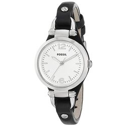 NEW FOSSIL GOLD TONE LEATHER BAND WOMENS WATCH
