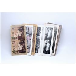 TEN VINTAGE STEREOSCOPE CARDS