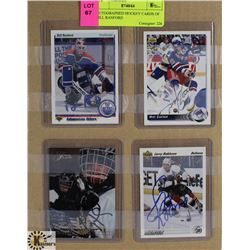 AUTOGRAPHED HOCKEY CARDS OF BILL RANFORD