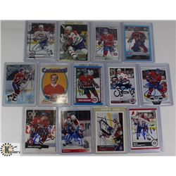 LOT OF MONTREAL CANADIENS SIGNED CARDS INCL