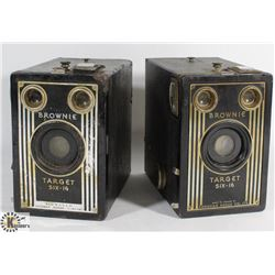 LOT OF 2 BROWNIE CAMERAS TARGET SIX-16, ONE MADE