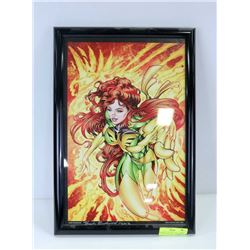FRAMED JEAN GREY PRINT, SIGNED HUGH ROOKWOOD